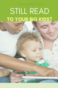 multiracial family reading to child