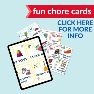 fun kids colorful chore cards